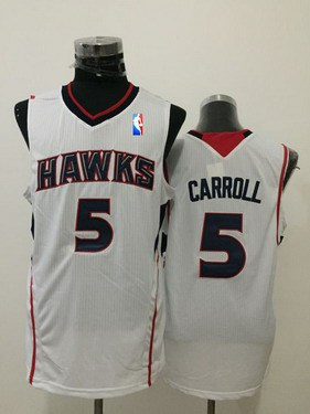 Men's Atlanta Hawks #5 DeMarre Carroll White Swingman Jersey