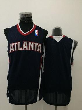 Men's Atlanta Hawks Blank Navy Blue Swingman Jersey