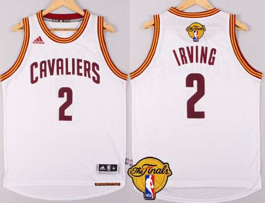 Men's Cleveland Cavaliers #2 Kyrie Irving 2015 The Finals New White Jersey