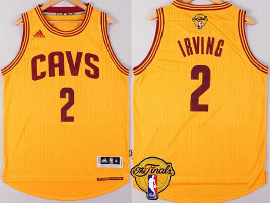 Men's Cleveland Cavaliers #2 Kyrie Irving 2015 The Finals New Yellow Jersey