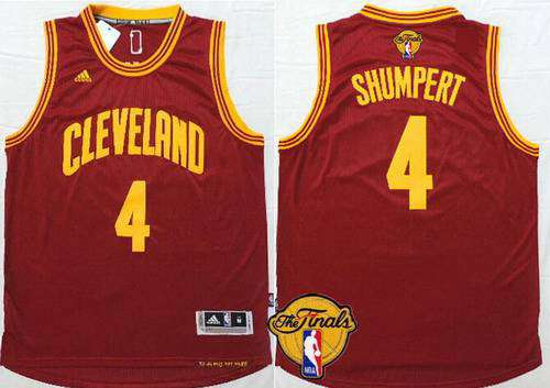 Men's Cleveland Cavaliers #4 Iman Shumpert 2015 The Finals New Red Jersey