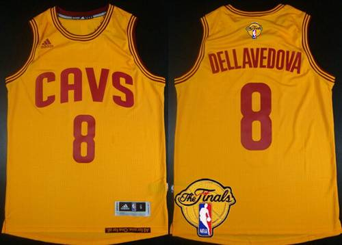 Men's Cleveland Cavaliers #8 Matthew Dellavedova 2015 The Finals New Yellow Jersey