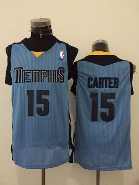 Men's Memphis Grizzlies #15 Vince Carter Light Blue Swingman Jersey