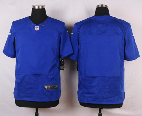 Men's New York Giants Blank Royal Blue Team Color NFL Nike Elite Jersey