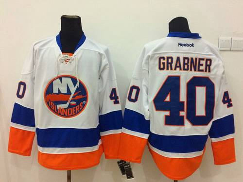 Men's New York Islanders #40 Michael Grabner White Jersey