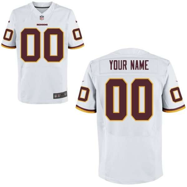Men's Washington Redskins Nike White Customized 2014 Elite Jersey
