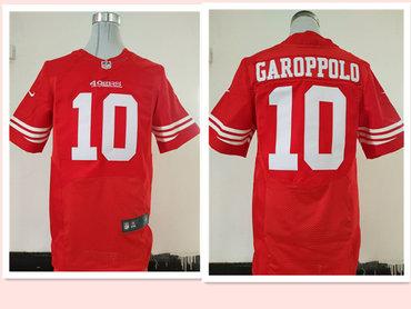 Men's San Francisco 49ers #10 Jimmy Garoppolo Scarlet Red Team Color Stitched NFL Nike Elite Jersey