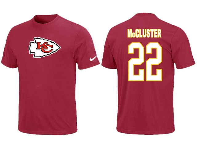 Nike Kansas City Chiefs 22 McCluster Name & Number T-Shirt Red