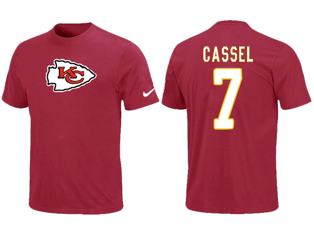 Nike Kansas City Chiefs 7 CASSEL Name & Number T-Shirt Red