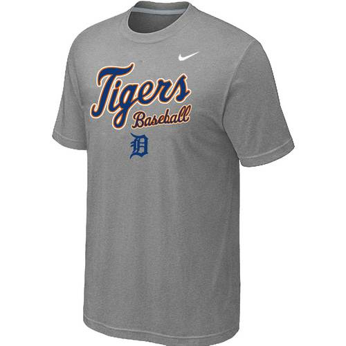 Nike MLB Detroit Tigers 2014 Home Practice T-Shirt - Light Grey