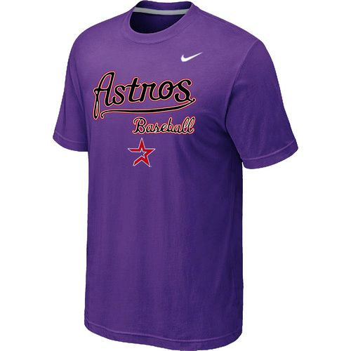 Nike MLB Houston Astros 2014 Home Practice T-Shirt - Purple