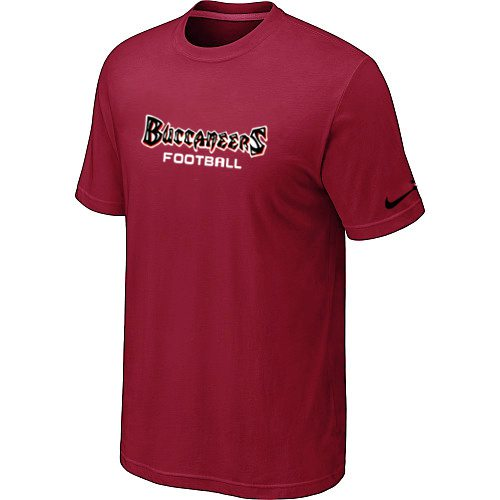 Nike Tampa Bay Buccaneers Sideline Legend Authentic Font T-Shirt Red