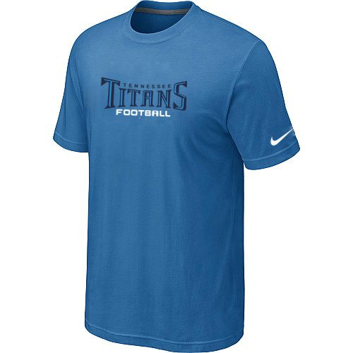 Nike Tennessee Titans Sideline Legend Authentic Font T-Shirt –L.Blue