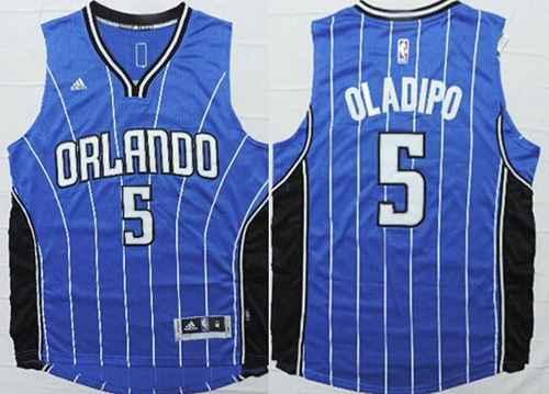 Orlando Magic #5 Victor Oladipo Revolution 30 Swingman 2014 New Blue Jersey