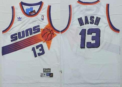 Phoenix Suns #13 Steve Nash White Hardwood Classics Soul Swingman Throwback Jersey