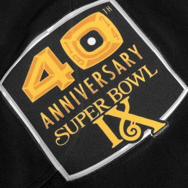 Pittsburgh Steelers Super Bowl IX 40th Anniversary Patch
