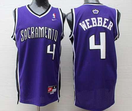 Sacramento Kings #4 Chris Webber Sacramento Purple Swingman Jersey