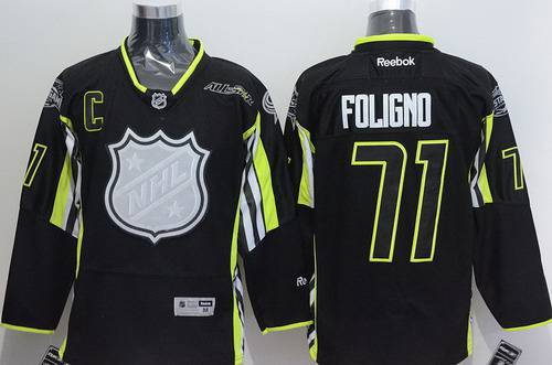Team Foligno Columbus Blue Jackets #71 Nick Foligno 2015 All-Star Black Jersey