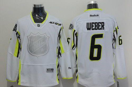 Team Toews Nashville Predators #6 Shea Weber 2015 All-Star White Jersey