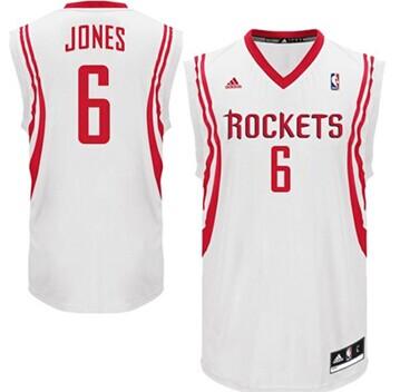 Houston Rockets #6 Terrence Jones White Swingman Jersey
