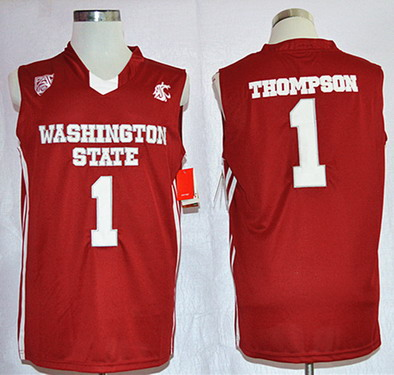Washington State Cougars #1 Klay Thompson Red Jersey