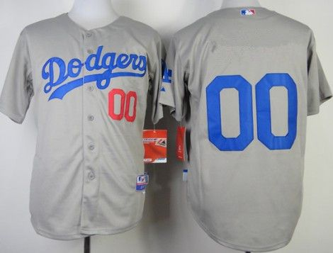Youth Los Angeles Dodgers Customized 2014 Gray Jersey