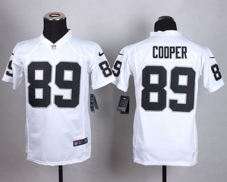 Youth Oakland Raiders #89 Amari Cooper Nike White Game Jersey