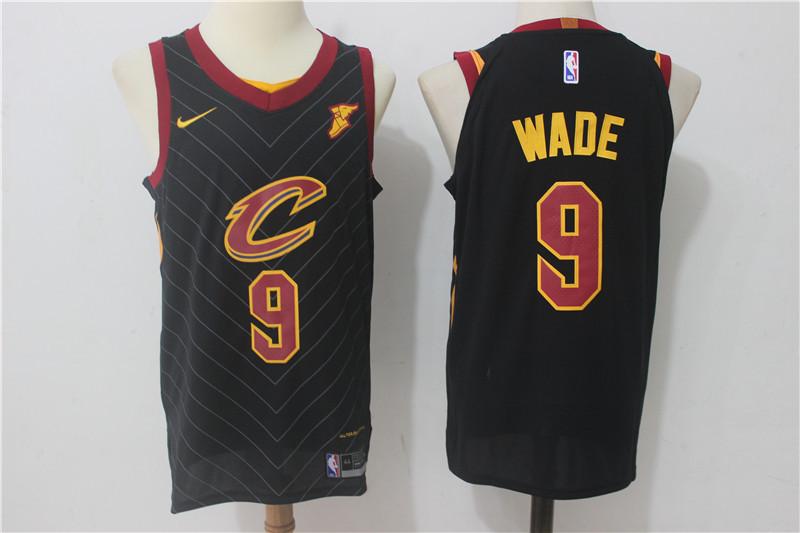 Men's Cleveland Cavaliers #9 Dwyane Wade Black 2017-2018 Nike Swingman Stitched NBA Jersey