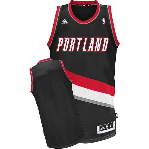 Portland Trail Blazers Blank Black Swingman Jersey