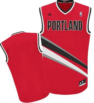 Portland Trail Blazers Blank Red Swingman Jersey