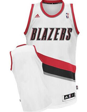 Portland Trail Blazers Blank White Swingman Jersey