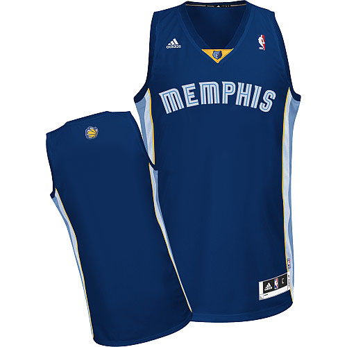 Memphis Grizzlies Blank Navy Blue Swingman Jersey