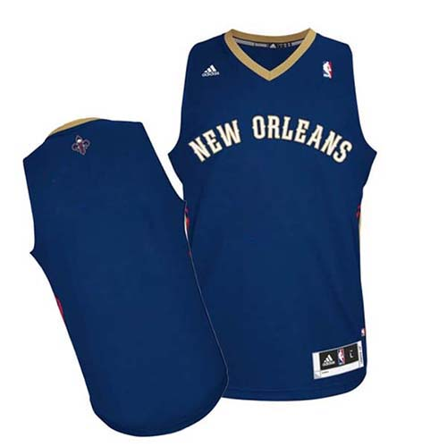 New Orleans Pelicans Blank Navy Blue Swingman Jersey