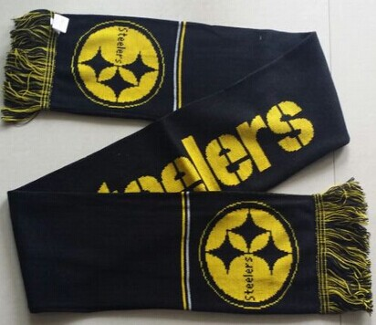 Pittsburgh Steelers Black Scarf