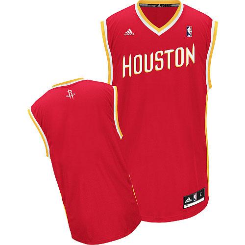 Houston Rockets Blank Red With Gold Swingman Jersey