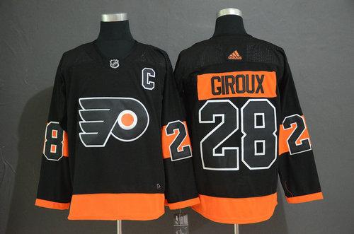 Men's Philadelphia Flyers #28 Claude Giroux Black Alternate Breakaway Player Adidas Jersey