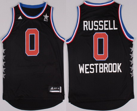 2015 NBA Western All-Stars #0 Russell Westbrook Revolution 30 Swingman Black Jersey