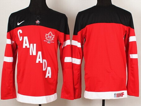 2014/15 Team Canada Blank Red 100TH Jersey