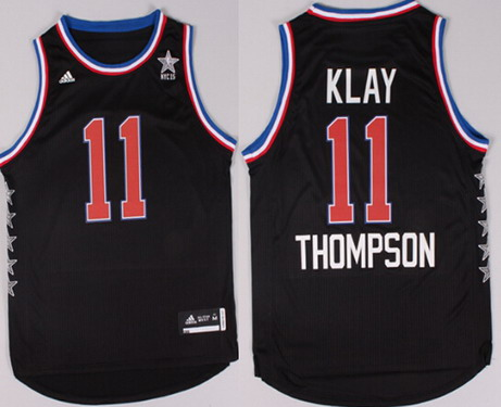 2015 NBA Western All-Stars #11 Klay Thompson Revolution 30 Swingman Black Jersey