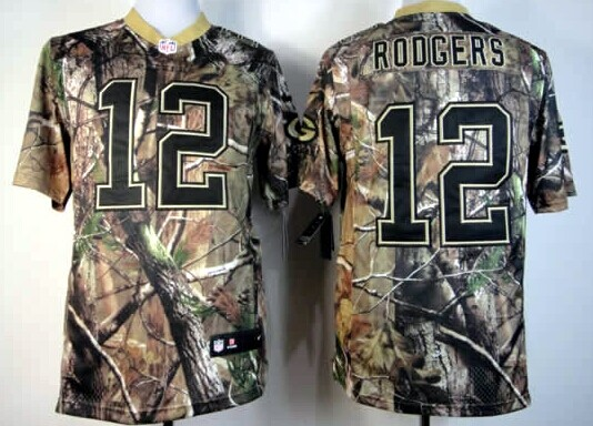Nike Green Bay Packers #12 Aaron Rodgers Realtree Camo Elite ...