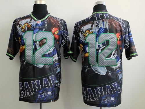 Nike Seattle Seahawks #12 Fan 2014 Fanatic Fashion Elite Jersey