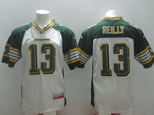 CFL Edmonton Eskimos #13 Mike Reilly White Jersey