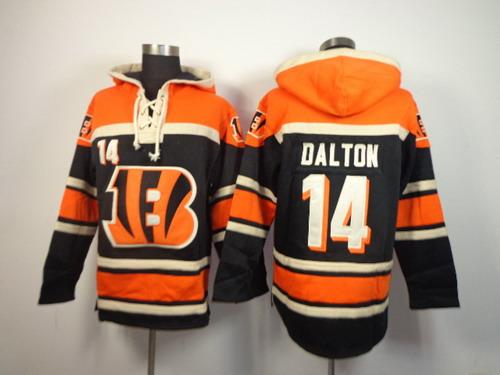 Cincinnati Bengals #14 Andy Dalton 2014 Black Hoodie