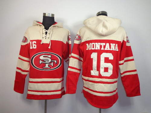 San Francisco 49ers #16 Joe Montana 2014 Red Hoodie