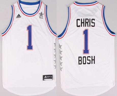 2015 NBA Eastern All-Stars #1 Chris Bosh Revolution 30 Swingman White Jersey