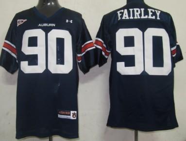 Auburn Tigers #90 Nick Fairley Navy Blue Jersey