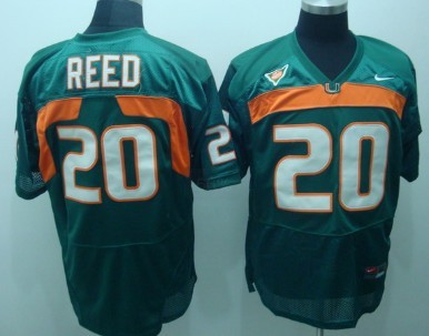 Miami Hurricanes #20 Reed Green Jersey