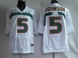 Miami Hurricanes #5 Johnson White Jersey