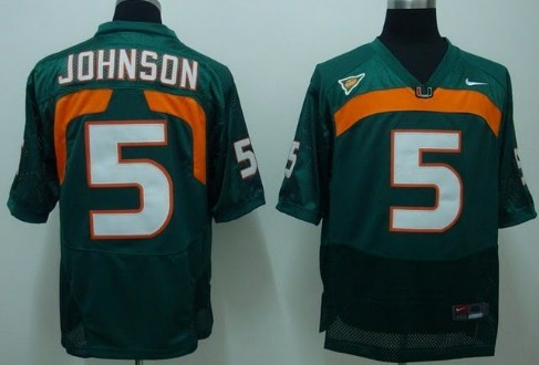 Miami Hurricanes #5 Johnson Green Jersey