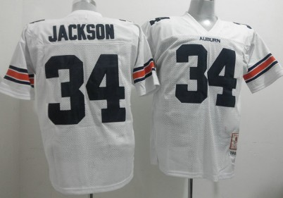 Auburn Tigers #34 Bo Jackson White Jersey